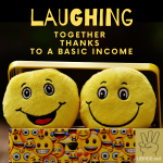 laughing together thanks to a basic income